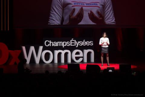 Marie Beauchesne sur la scène des TEDx Women
