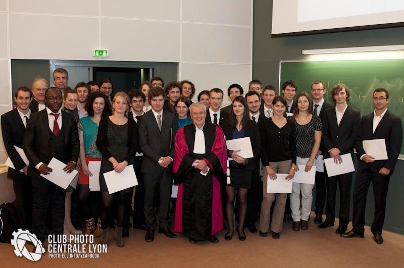 Remise des diplômess à Centrale Lyon