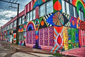 Oeuvre de la street-artiste Maya Hayuk