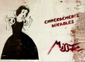 Oeuvre de la street artiste Miss Tic