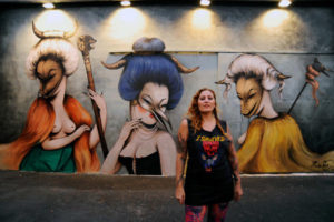 La street-artiste Miss Van