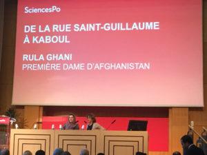 Rula Ghani et Anne Nivat à Sciences PO paris