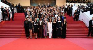 Les 82 femmes sur les marches du Palais du Festival, Cannes 2018