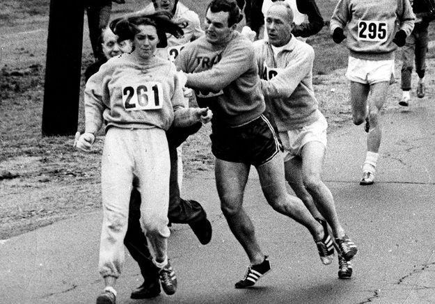 • Kathrine Virginia Switzer première femme à courir le marathon de Boston en 1967