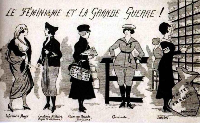 Les femmes en arrière ligne pendant la guerre