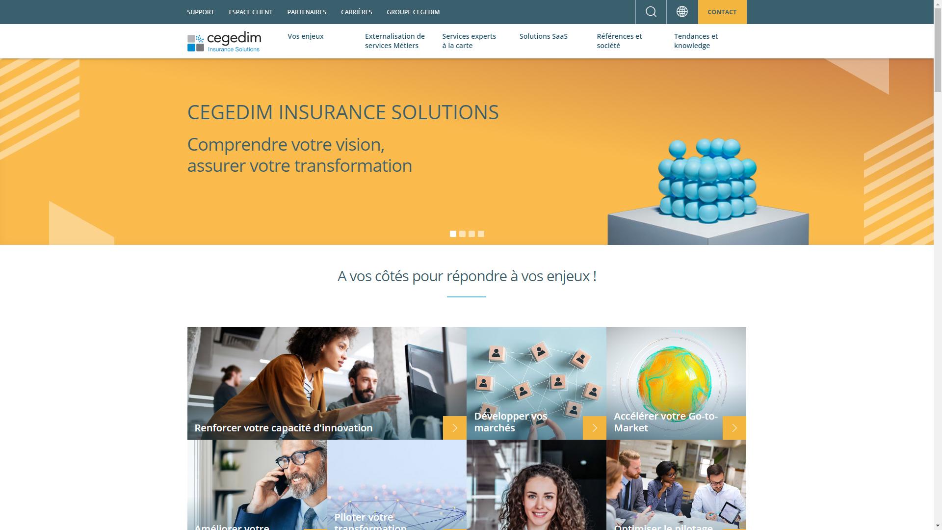 Nouveau site web de Cegedim Insurance Solutions